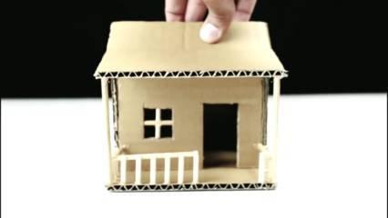 Cara Membuat Miniatur Rumah dari Kardus