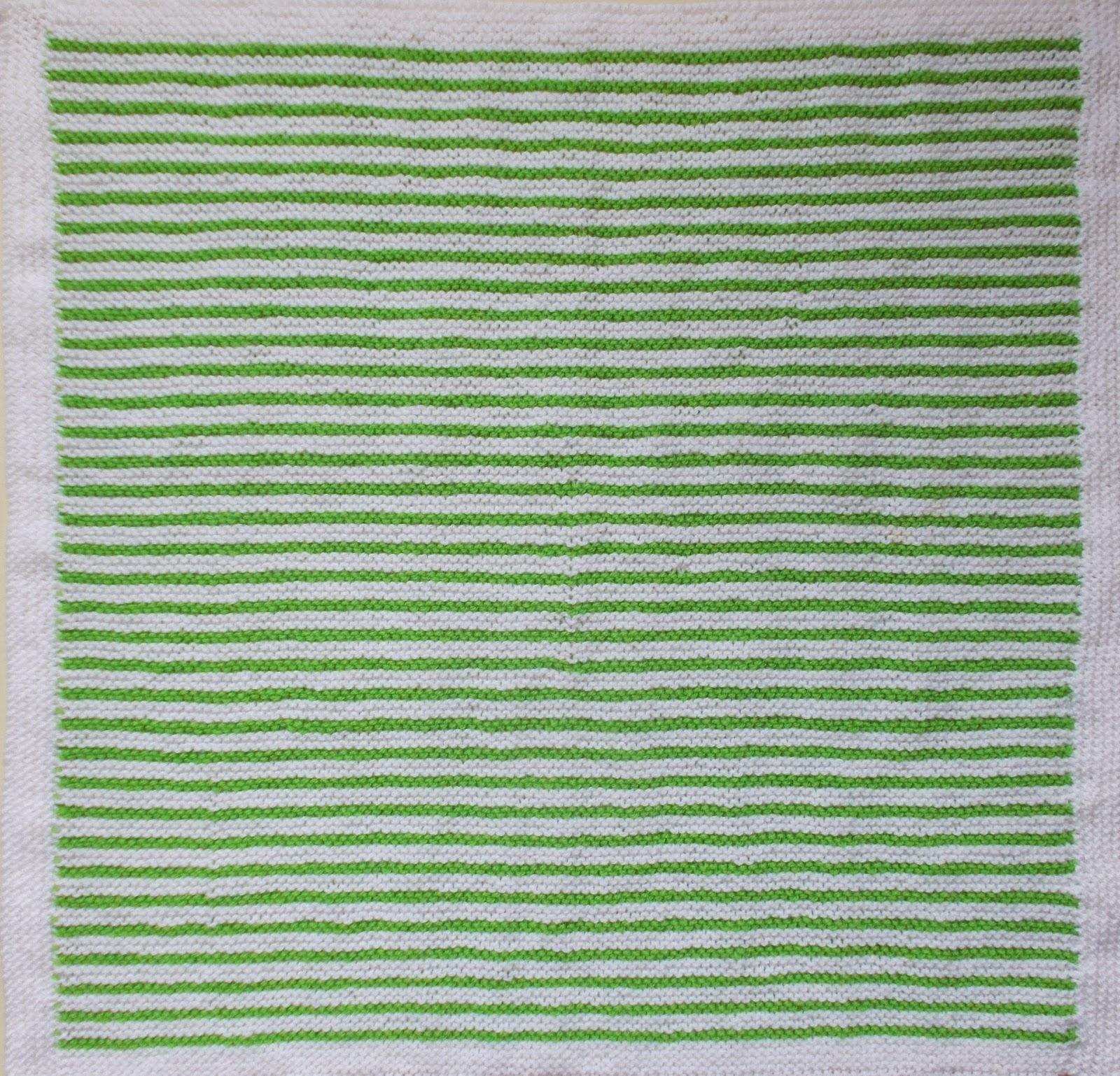 a115556dab99 Marianna s Lazy Daisy Days  Easy Garter Stitch Striped Baby Blanket