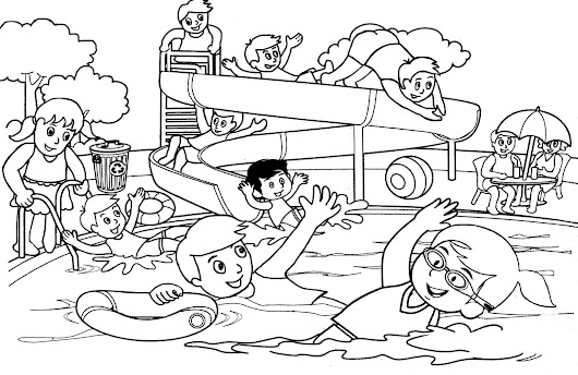 Gambar Gambar Kartun Anak Olahraga Top Mewarnai Kecil Main Hoki Es