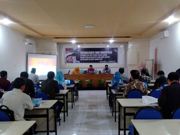 KPU Selayar Perkenalkan Aplikasi Sirekap, Dalam Gelar Sosialisasi dan Orientasi Pemungutan Suara