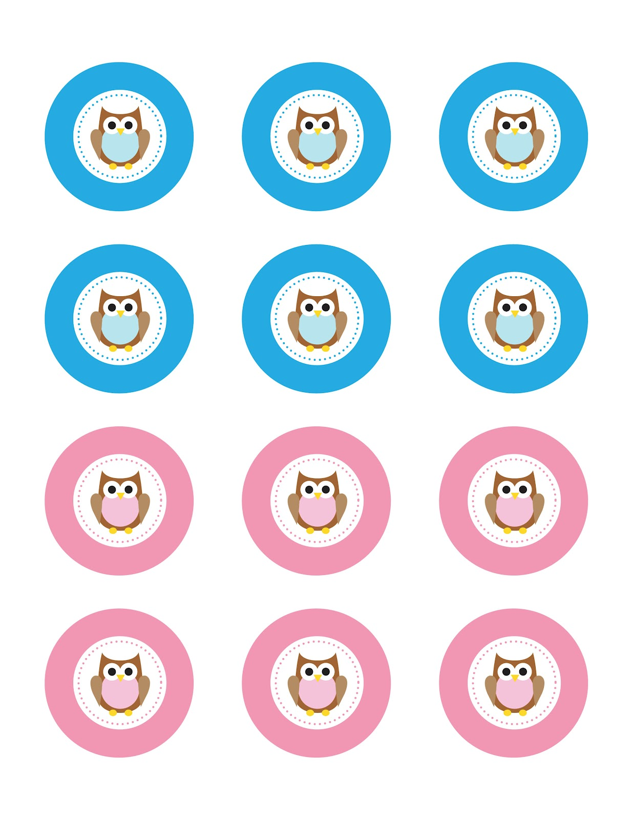 Owl Cupcake Toppers - FREE Printable! - Repeat Crafter Me