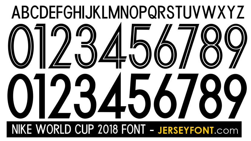Nike World Cup 2018 Font