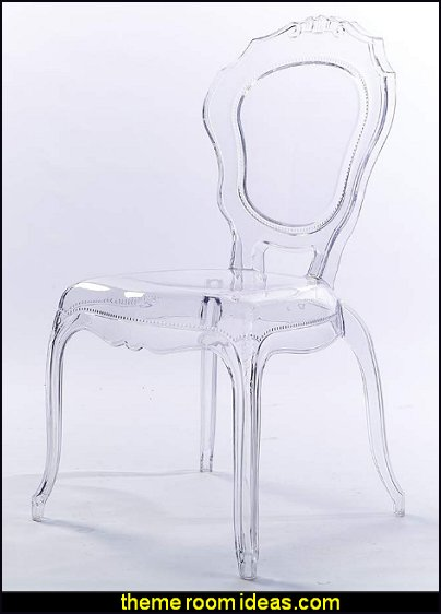 lucite chairs ghost chairs clear plastic chairs glam luxe furniture glam bedroom decorating