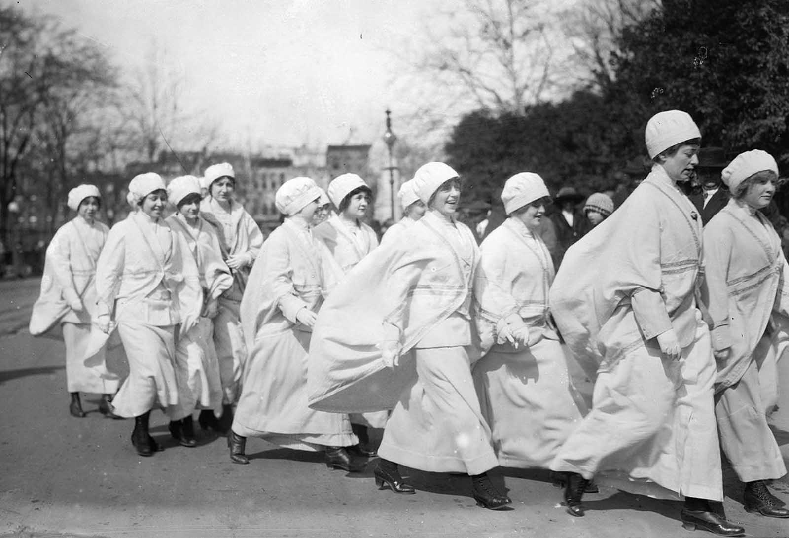 El desfile del sufragio femenino de 1913