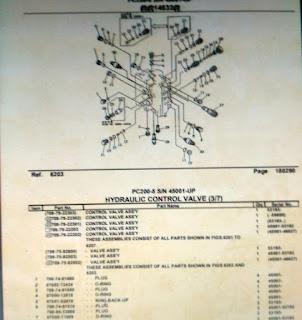 Parts Book Excavator Komatsu pc200-5 3