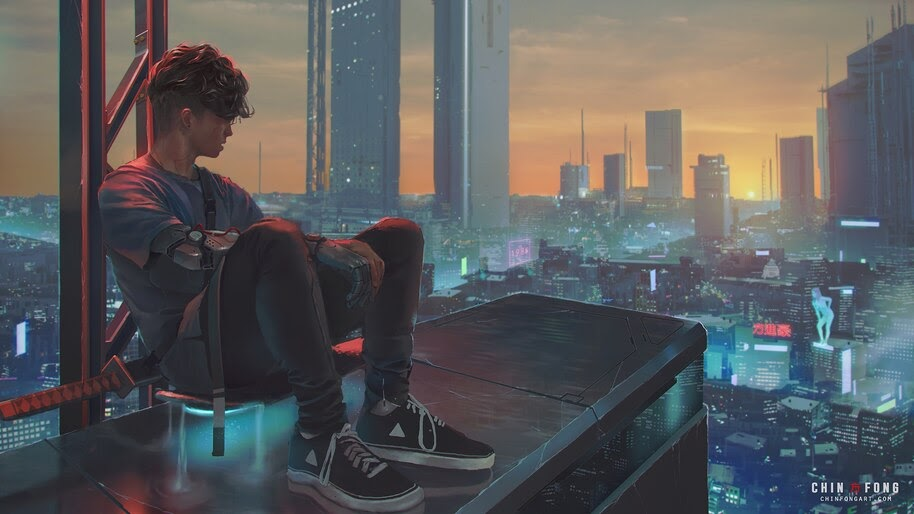 Cyberpunk City Sci Fi 4k Wallpaper 413