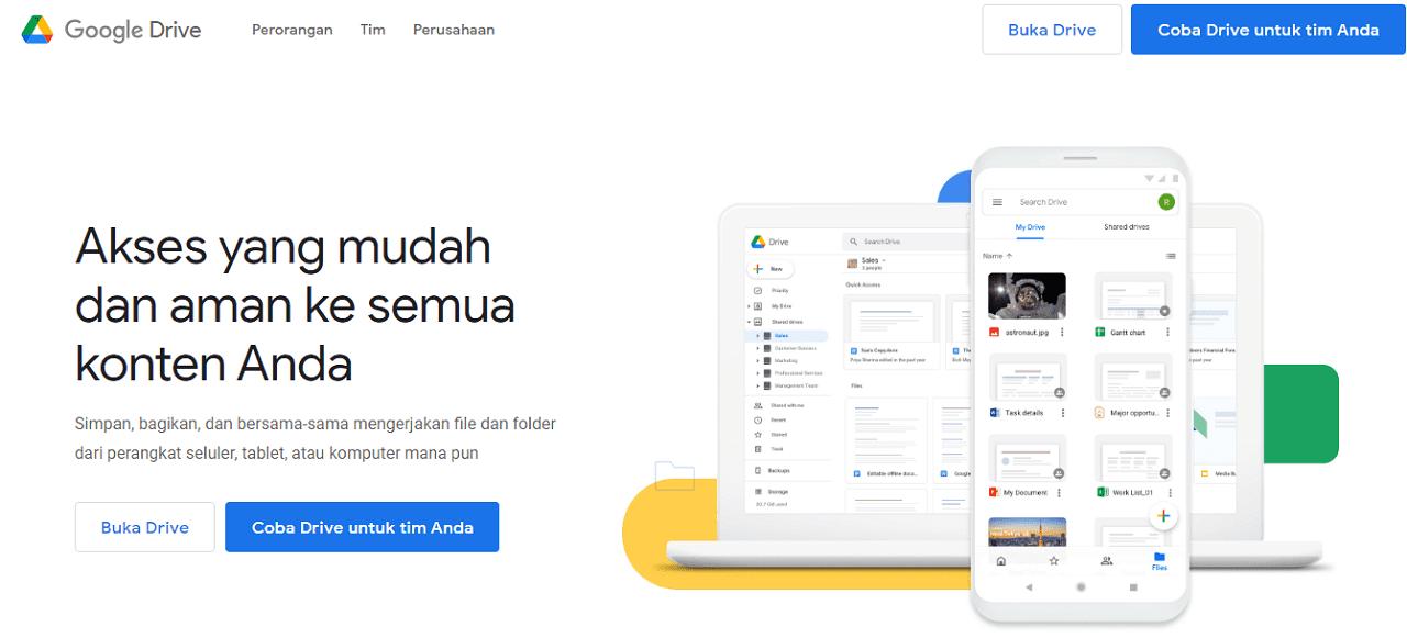 Google Drive layanan penyimpanan data online gratis