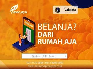 pedagang di pasar Jaya Jakarta Barat yang jual sembako online