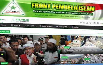 Pengakuan Mengejutkan : Website Resmi DPP FPI kabarnya Telah Dirampas