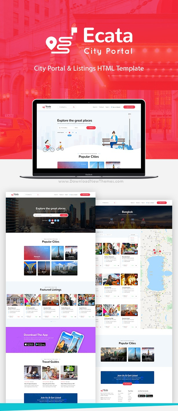 City Guide Bootstrap Template