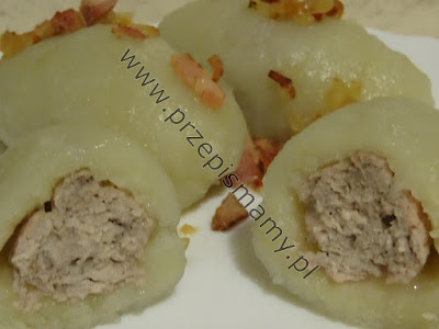 """Pyzy z tartych ziemniaków z mięsem """"Kartacze"""""""