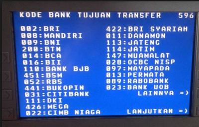 Daftar kode bank di indonesia, Bisnis Online,