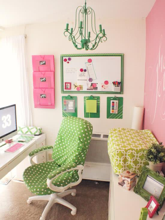 Female home office