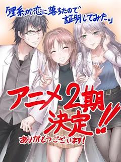 Anime Rikei ga Koi ni Ochita 'Rikekoi', Dapatkan Musim Kedua !