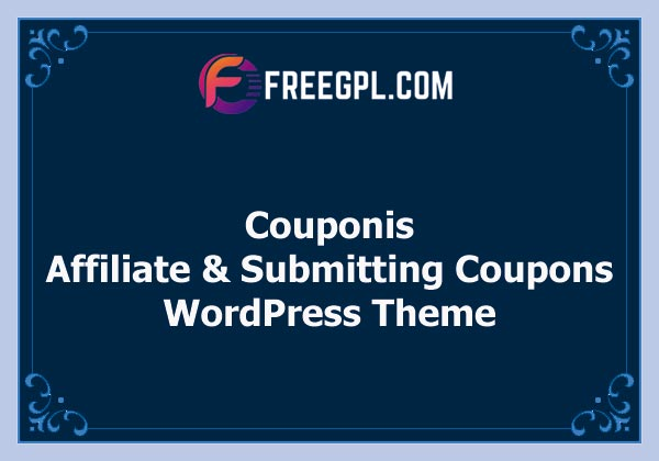 Couponis - Affiliate & Submitting Coupons WordPress Theme Nulled Download Free
