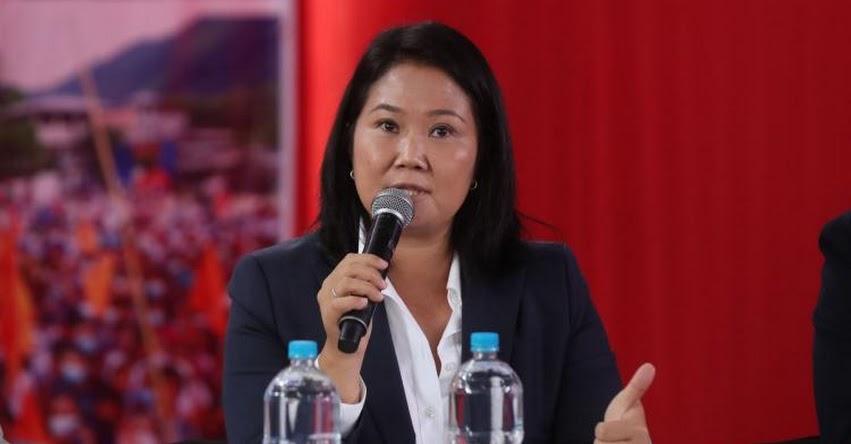 Keiko Fujimori ratifica que respetará resultados de elecciones