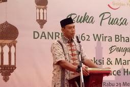 Pererat Silaturahim, Keluarga Besar Korem 162/WB Bukber bersama Management Hotel Golden Palace Lombok