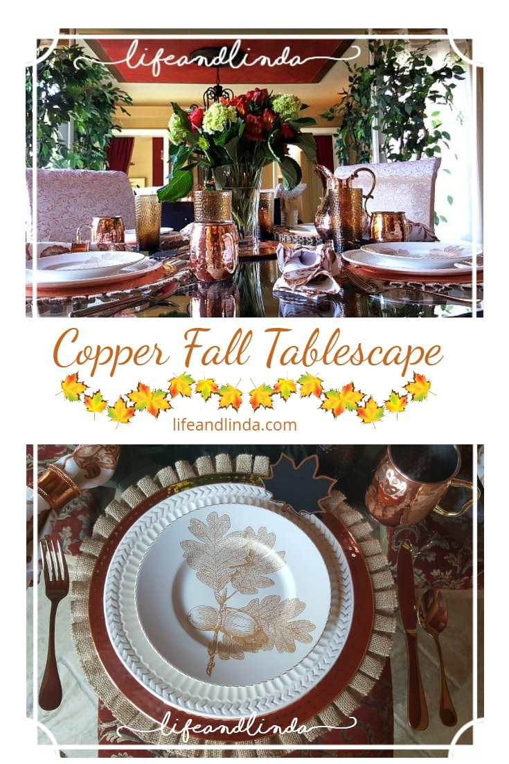 Our Coppery Fall Table | Life and Linda