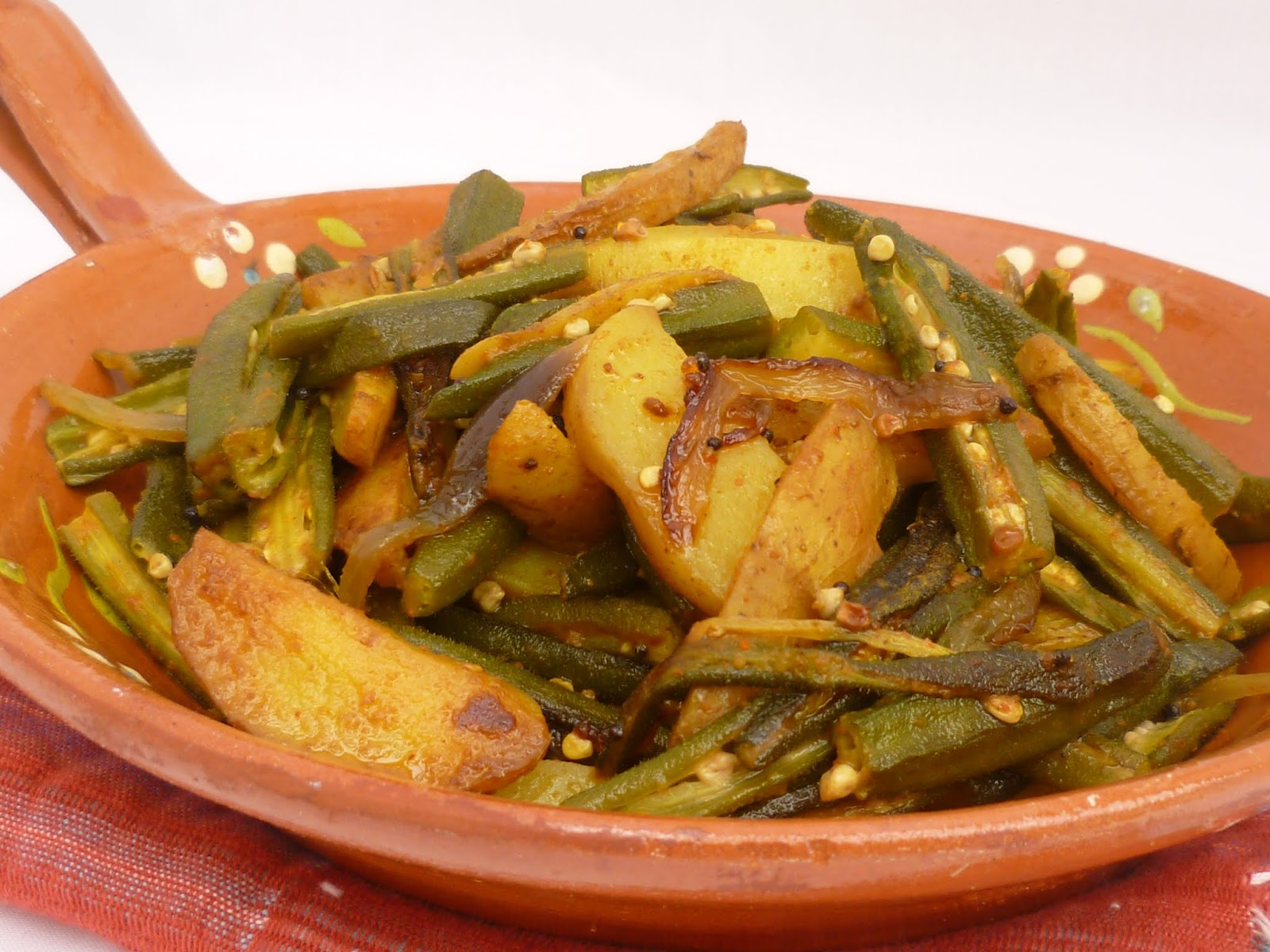 Okra and Potato Curry - Nepalese Style
