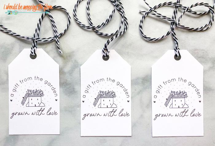 Free Printable Garden Gift Tags