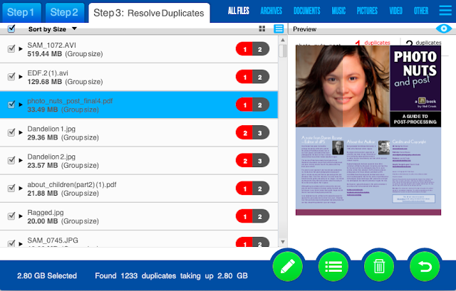 Remove Duplicate Files.