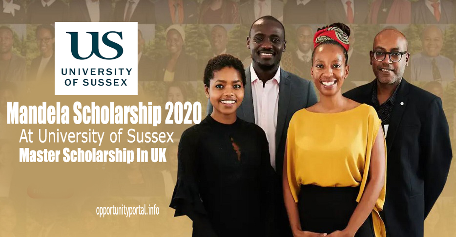 University of Sussex Mandela Scholarship 2021 for South African Students