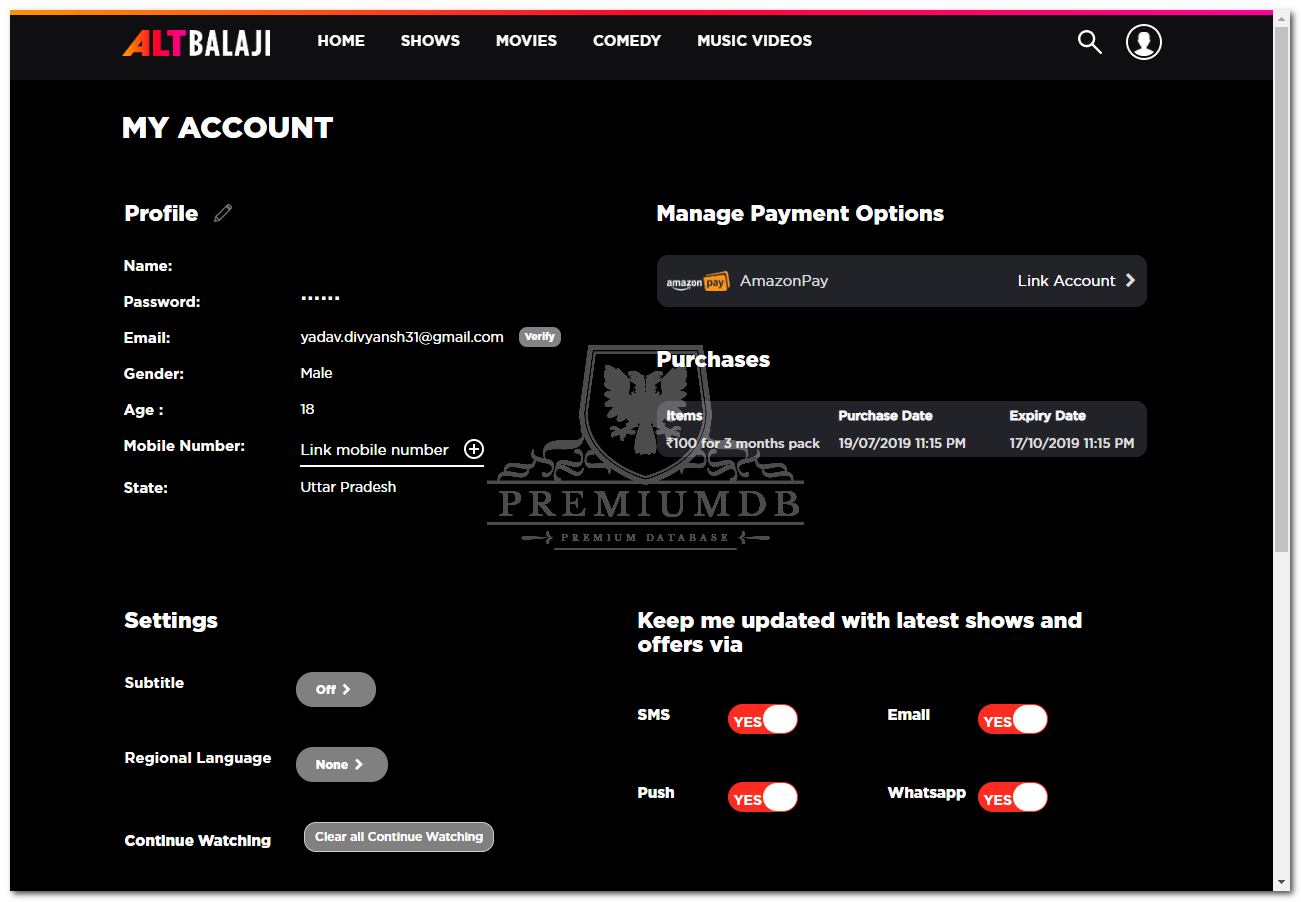 x4 Altbalaji.com Premium Accounts September 17, 2019