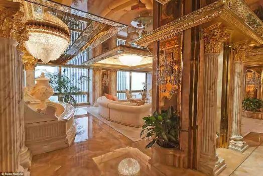 PHOTOS: Inside Donald Trump's $100million Trump Towers penthouse