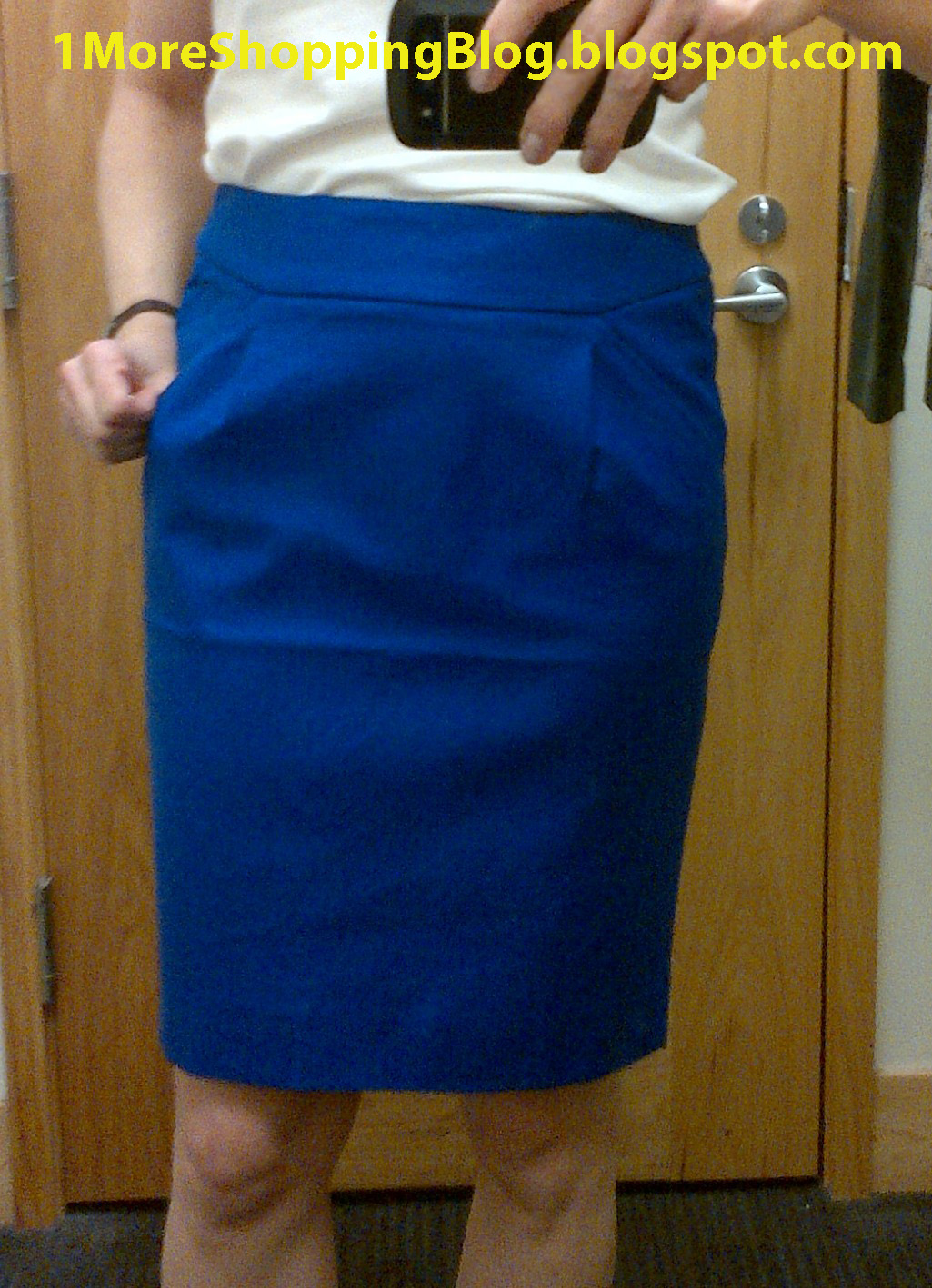 0661df00c0 Factory Double-Serge Pencil Skirt size 2 in 'brilliant blue' fits like the  No. 2 Pencil Skirts in Double-Serge Cotton from JC that I tried before.