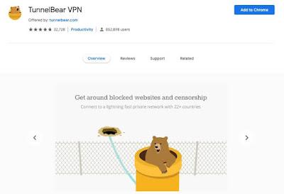 5 Ekstensi VPN Gratis Terbaik Untuk Chrome 2019 - TunnelBear
