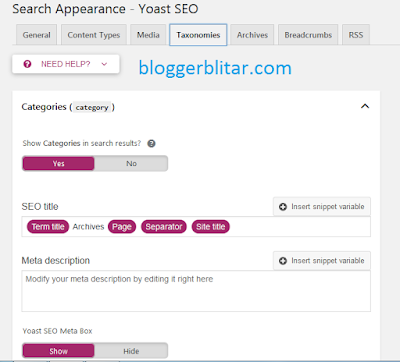 search appearance yoast seo