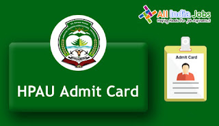 HPAU Junior Office Assistant Admit Card