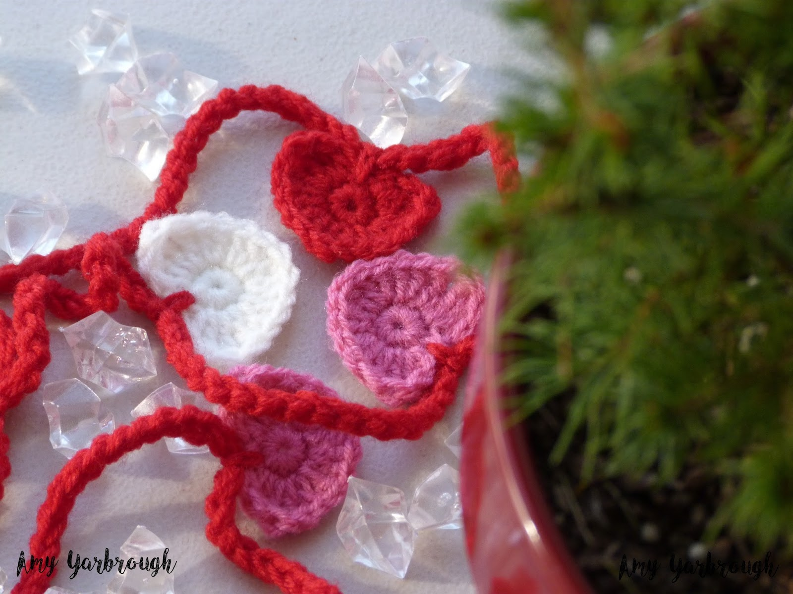String of Hearts Garland and Ornaments   New Crochet Pattern ...