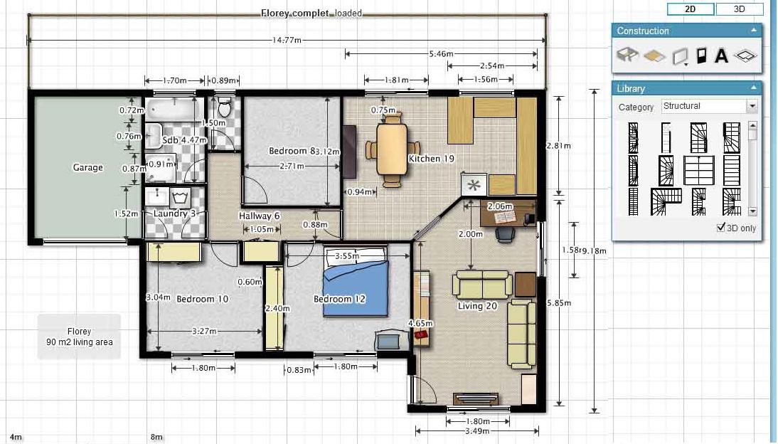 Floorplanner صمم منزلك بدون برامج الرسم مع موقع مجلتك المعمارية