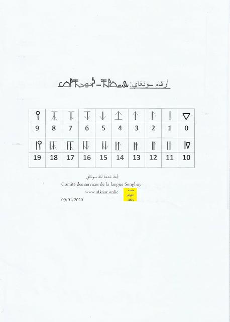 أرقام لغة سونغاي