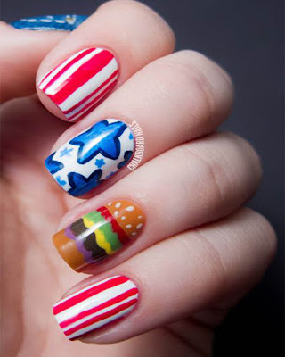 Nails creative for 4 of july 2019