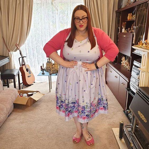Lindy Bop Floral Border Audrey Dress