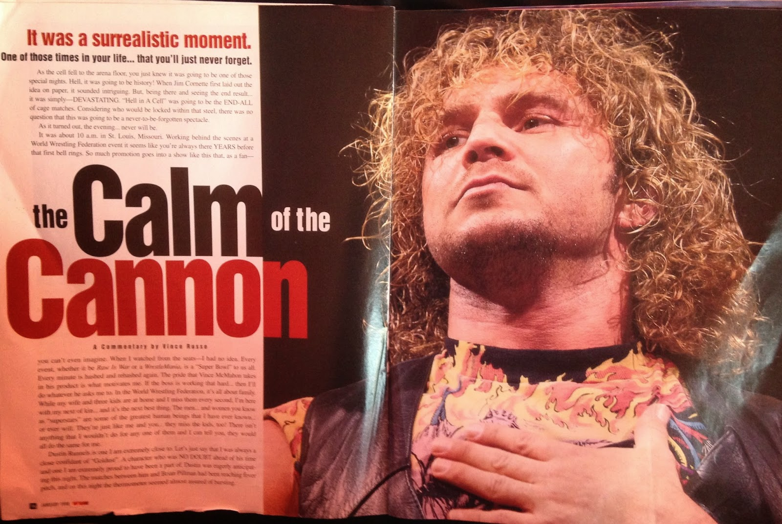 WWE: WWF RAW MAGAZINE - January 1998 - In memory of Brian Pillman