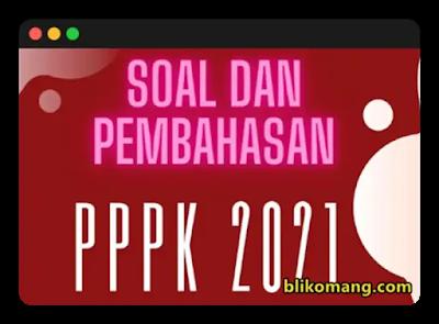Ribuan Soal PPPK 2021
