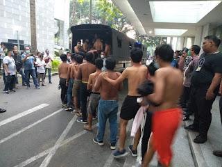 Puluhan Pendemo Anarkis Digiring ke Polrestabes Medan