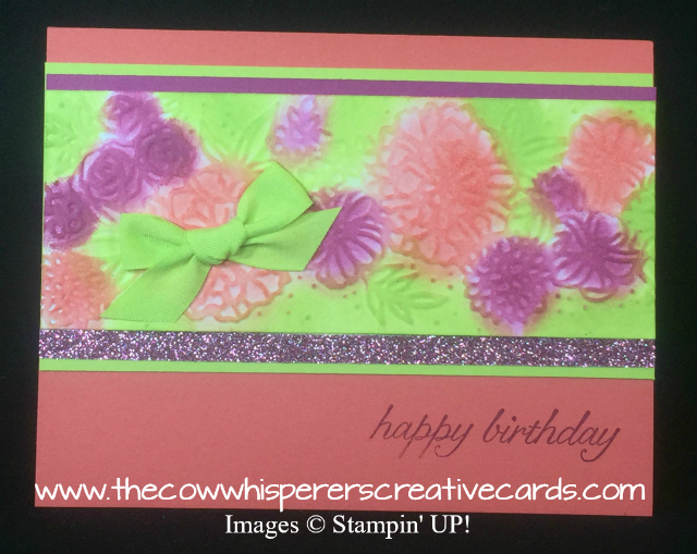 Card, Petal Pair Embossing Folder, Rose Glimmer Paper, Grapefruit Grove