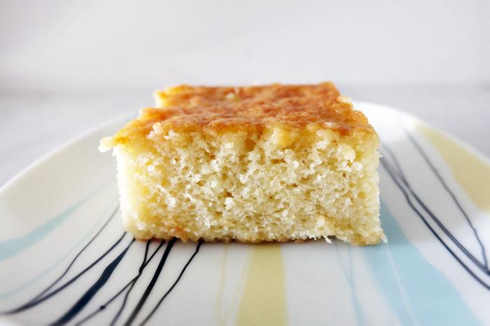 hot milk cake slice