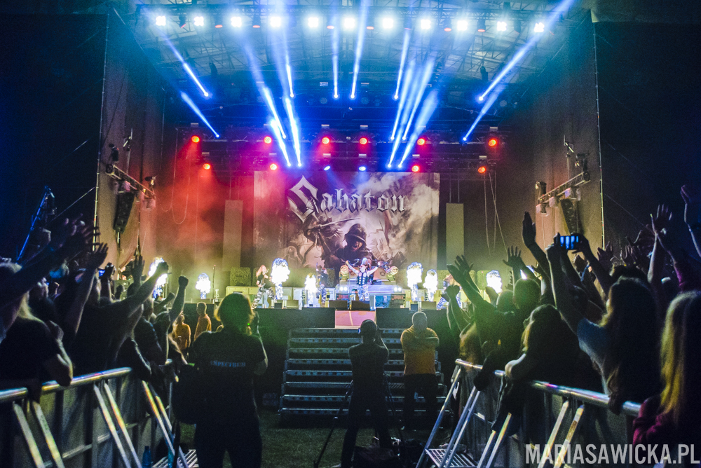 Sabaton crowd stage scena publiczność Czad Festiwal