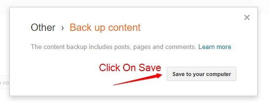 2 ways to take backup of your blogspot blogs