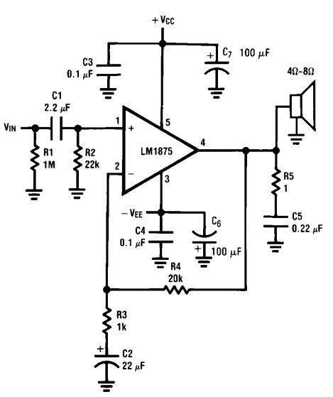 dukun elektro  amplifier 20w gainclone lm1875