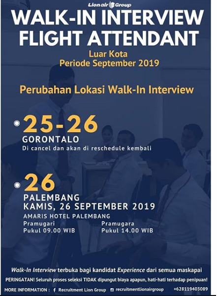 Lowongan Kerja Lion Air Group Minimal Tamatan SMA