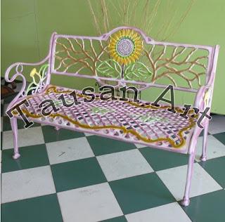 Kursi Taman cor matahari panjang