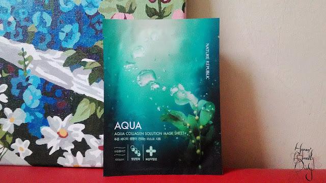 Review; Nature Republic's Aqua Collagen Solution Mask Sheet