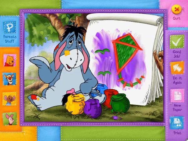 Painting with Eeyore