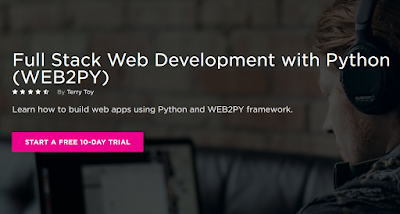 best Pluralsight course to learn Full stack web development using Python